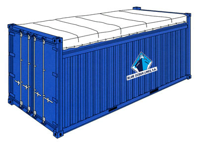 Shipping open top container